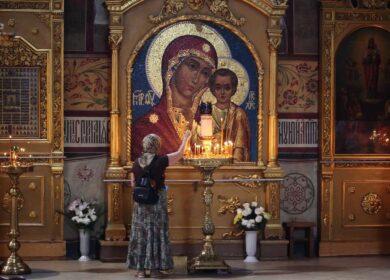 Актив клуба многодетных мам на репетиции выступления к празднованию в честь Казанской иконы Божией Матери